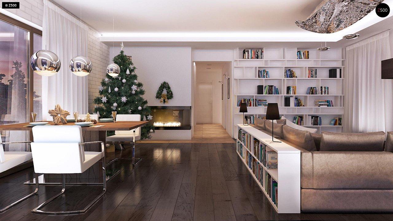 Дом характерного современного дизайна с гаражом и кабинетом на первом этаже. - фото 25