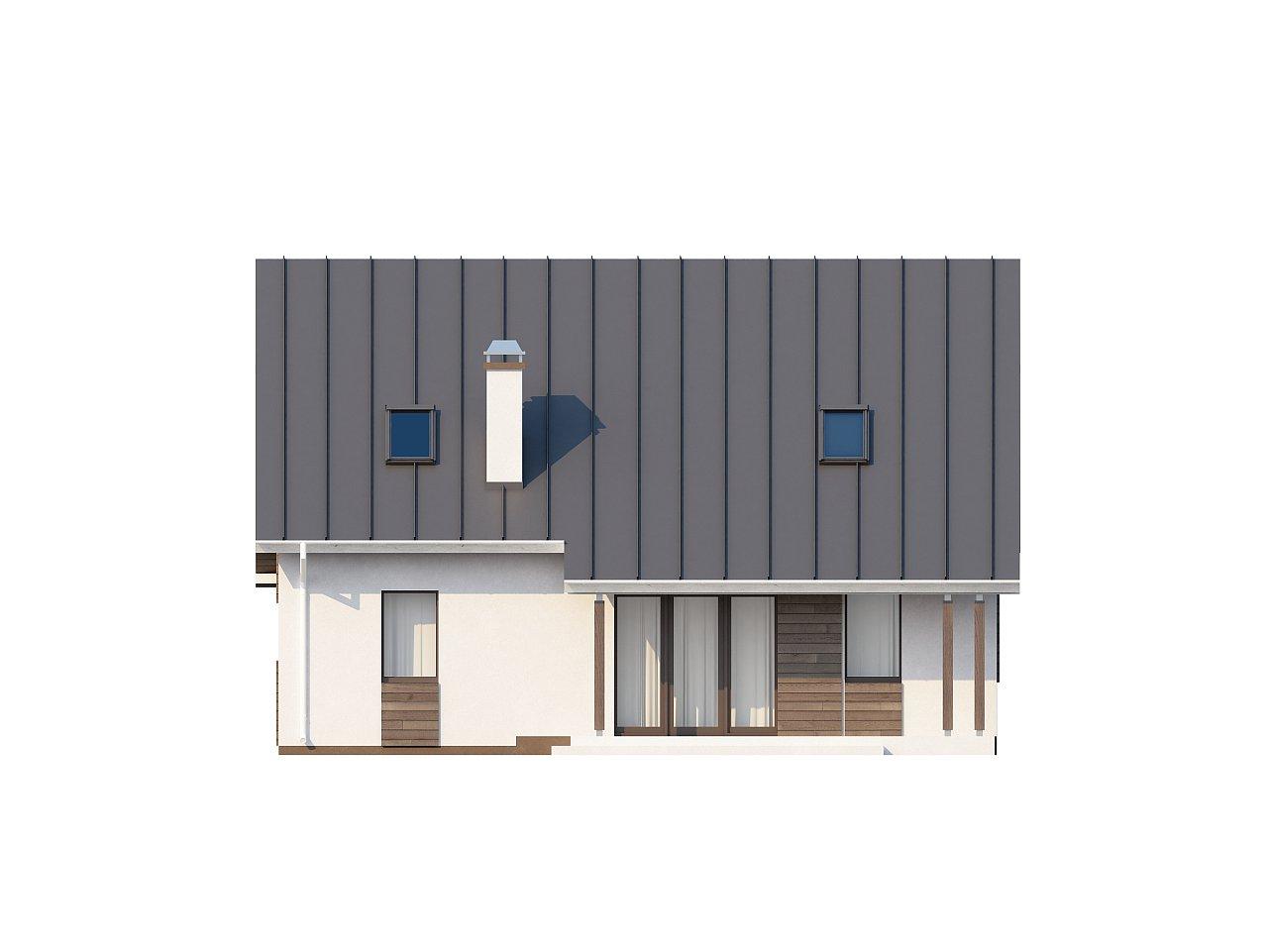 Практичный аккуратный дом с мансардой, со встроенным гаражом для одной машины. - фото 26