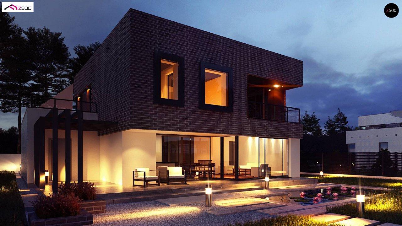 Проект двухэтажного дома с современным фасадом и удобным интерьером. 3