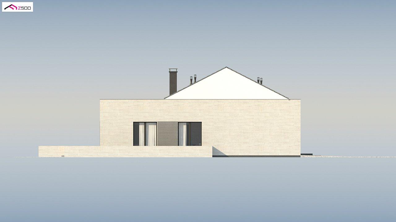 Проект одноэтажного дома Z390 с гаражом на 1 машину и красивым белым фасадом 19