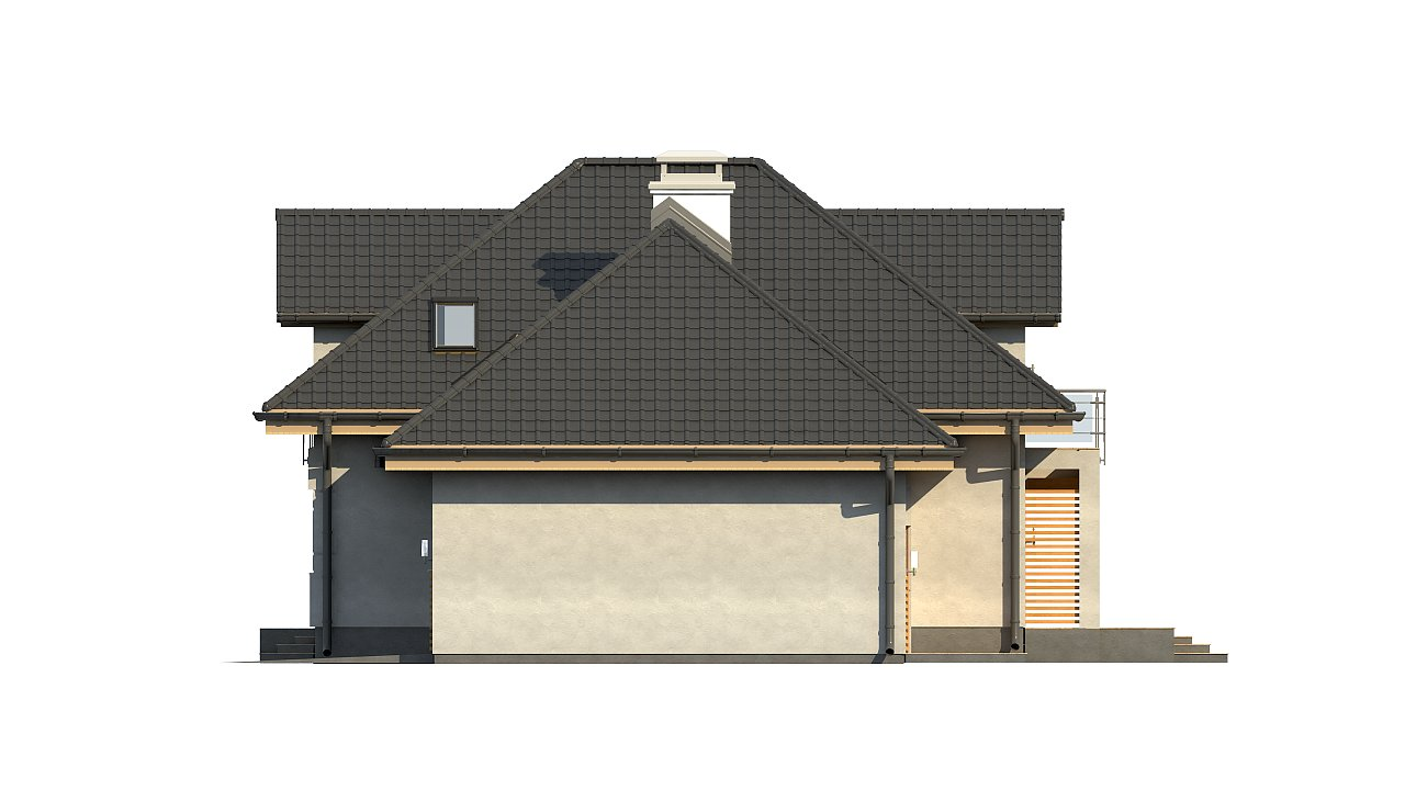 Комфортный дом привлекательного дизайна с дополнительной комнатой над гаражом. 18