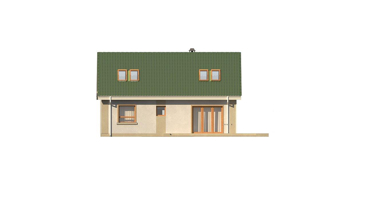 Компактный дом с мансардой и большой террасой на первом этаже 19