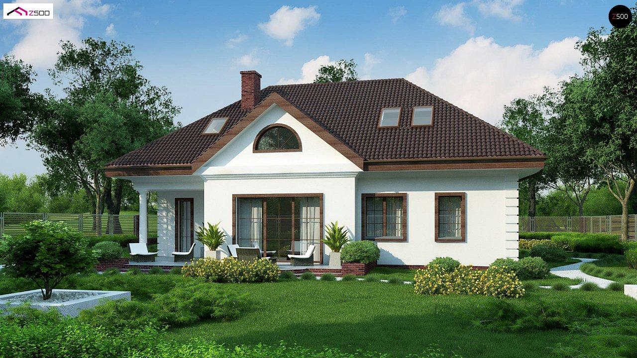 Проект дома в классическом стиле с роскошной мансардой и стильным экстерьером. - фото 2