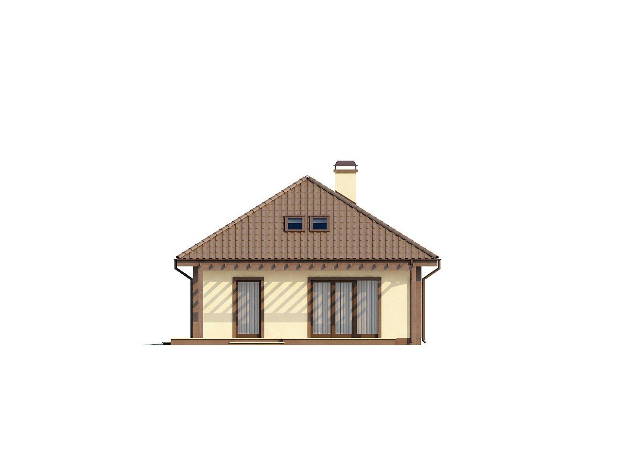 Просторный дом в традиционном стиле с двумя спальнями на мансарде. 6