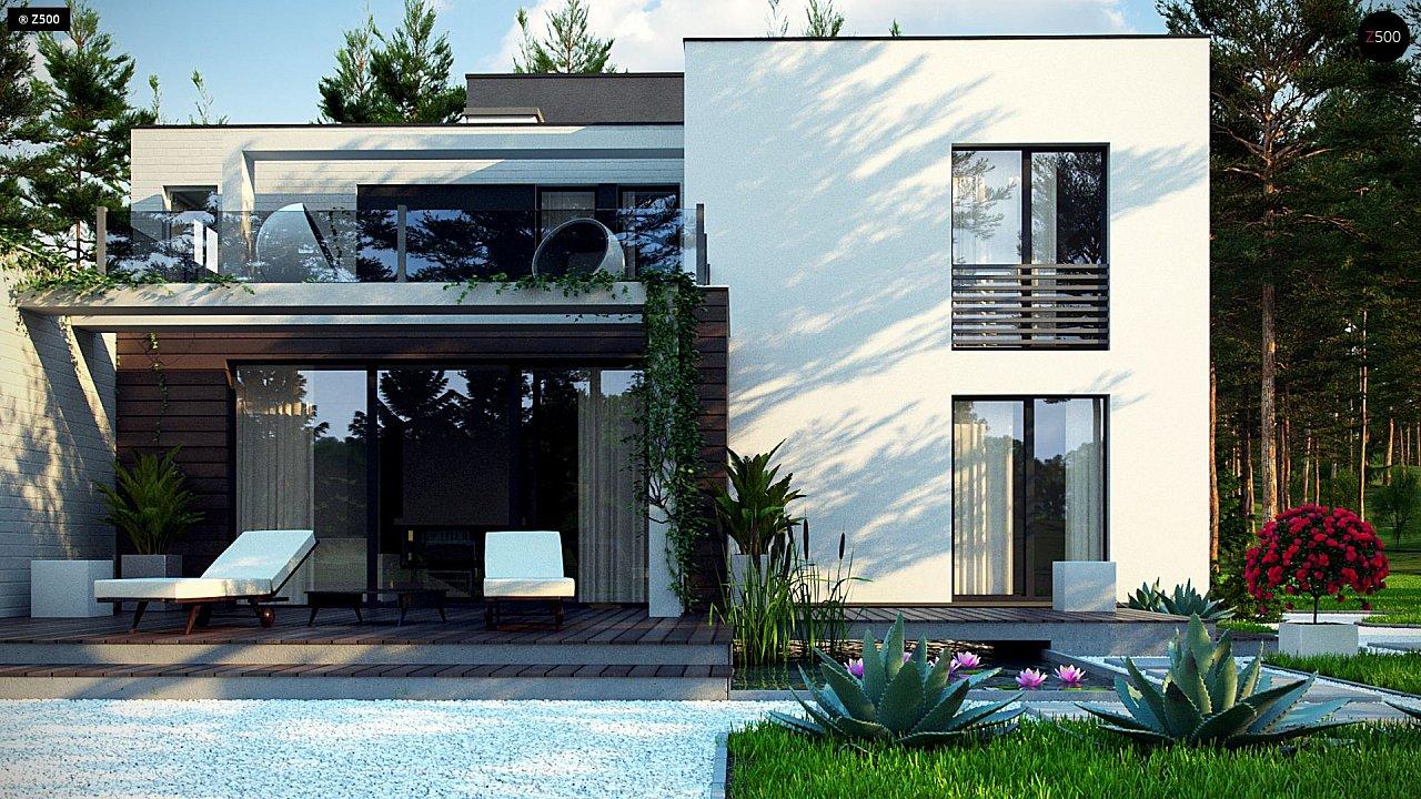 Двухэтажный дом в стиле минимализм - вариант проекта ZR 17 4