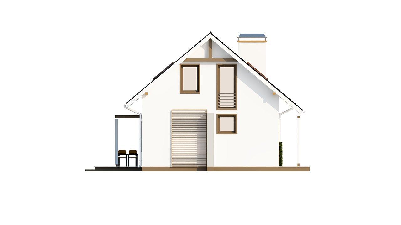 Проект каркасного мансардного дома в классическом дизайне 15