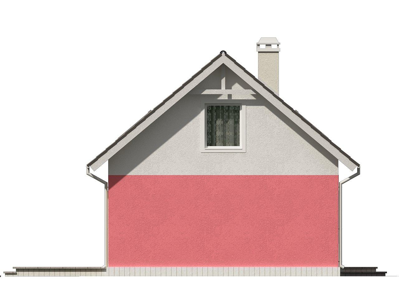 Практичный дом для небольшого участка, простой в строительстве, дешевый в эксплуатации. 24