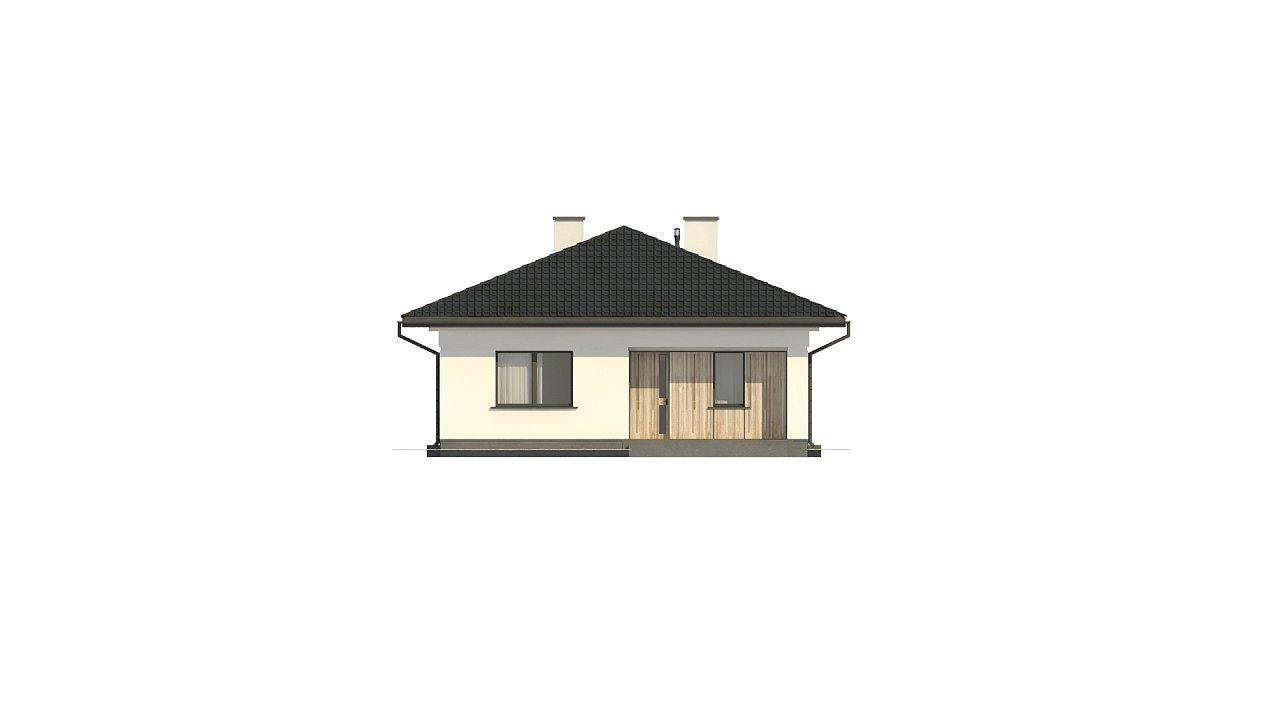 Дом для узкого участка с 4-х скатной крышей - фото 7