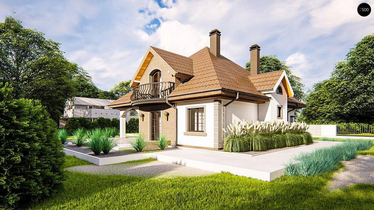 Классический мансардный дом с балконами. 2