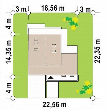 Современный мансардный проект дома с террасой и гаражом на две машины план помещений 1