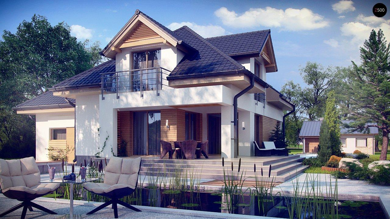 Комфортный дом привлекательного дизайна с дополнительной комнатой над гаражом. 2