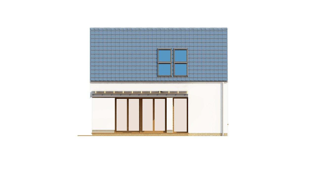 Компактный стильный дом простой формы с большой площадью остекления в дневной зоне. - фото 4