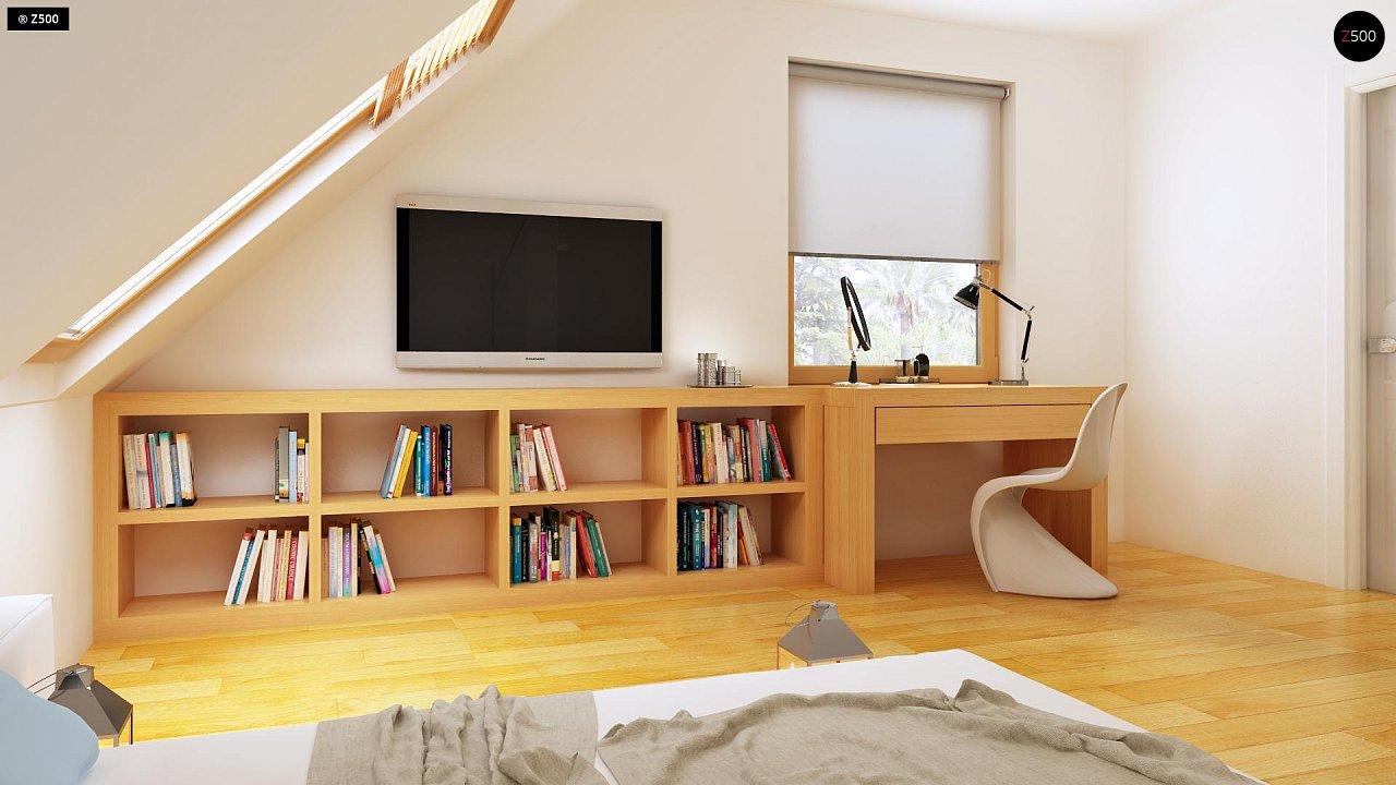 Практичный дом для небольшого участка, простой в строительстве, дешевый в эксплуатации. 9