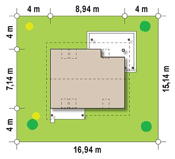 Проект каркасного мансардного дома в классическом дизайне план помещений 1