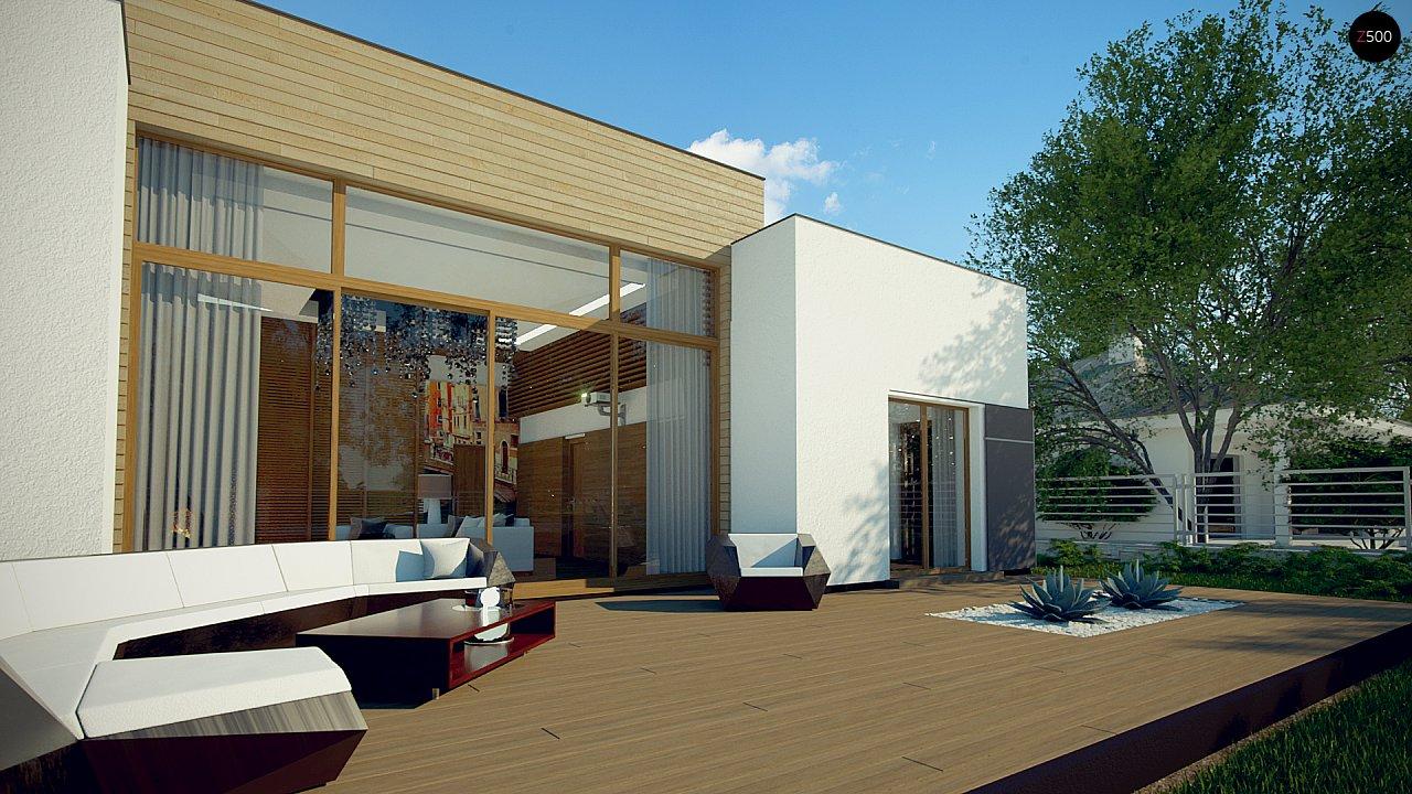 Одноэтажный дом в стиле современного минимализма 5