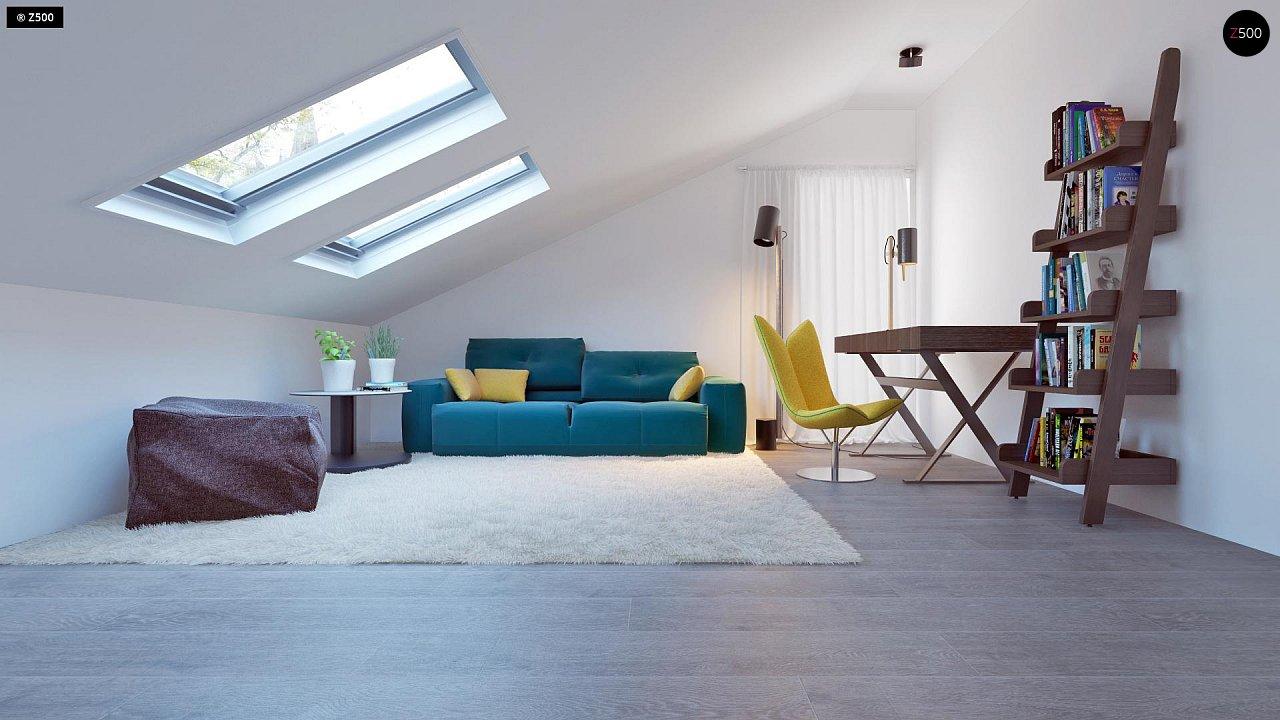 Проект функционального и удобного дома с комнатой над гаражом. 18