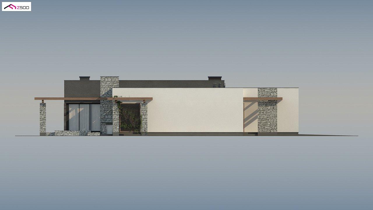Современный одноэтажный дом с двойным гаражом и плоской крышей 8