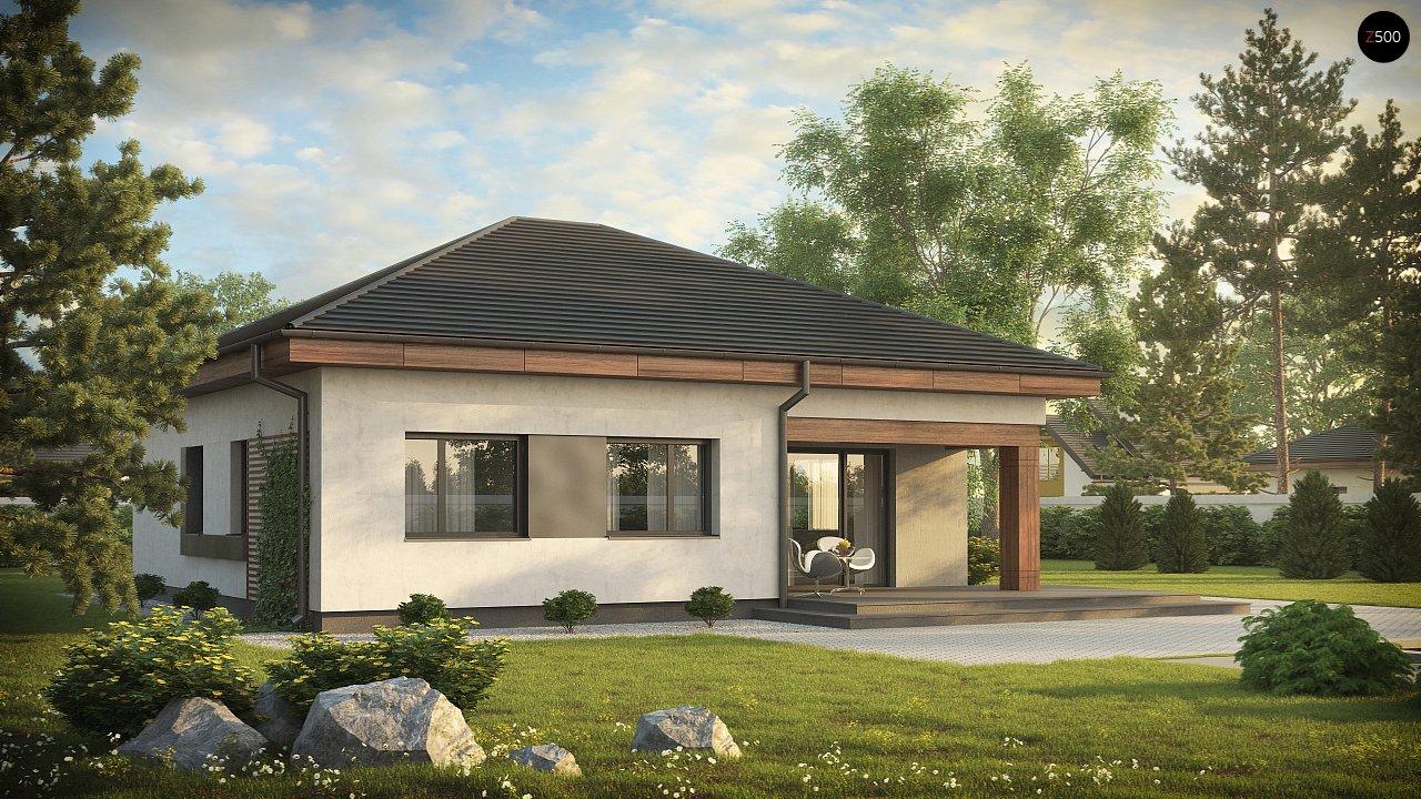 Проект стильного одноэтажного дома в классическом стиле. 4