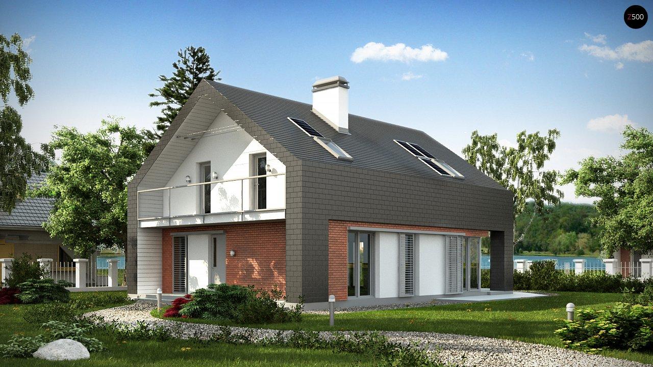 Практичный и уютный дом с модернистскими элементами в архитектуре. 1