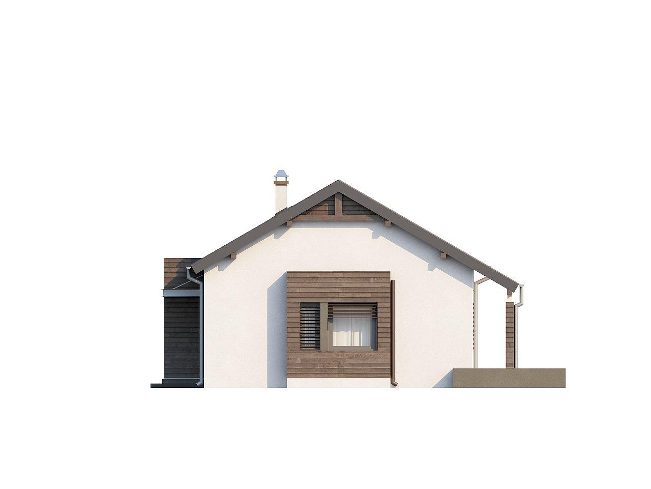 Функциональный одноэтажный дом с современными элементами отделки фасадов. - фото 24