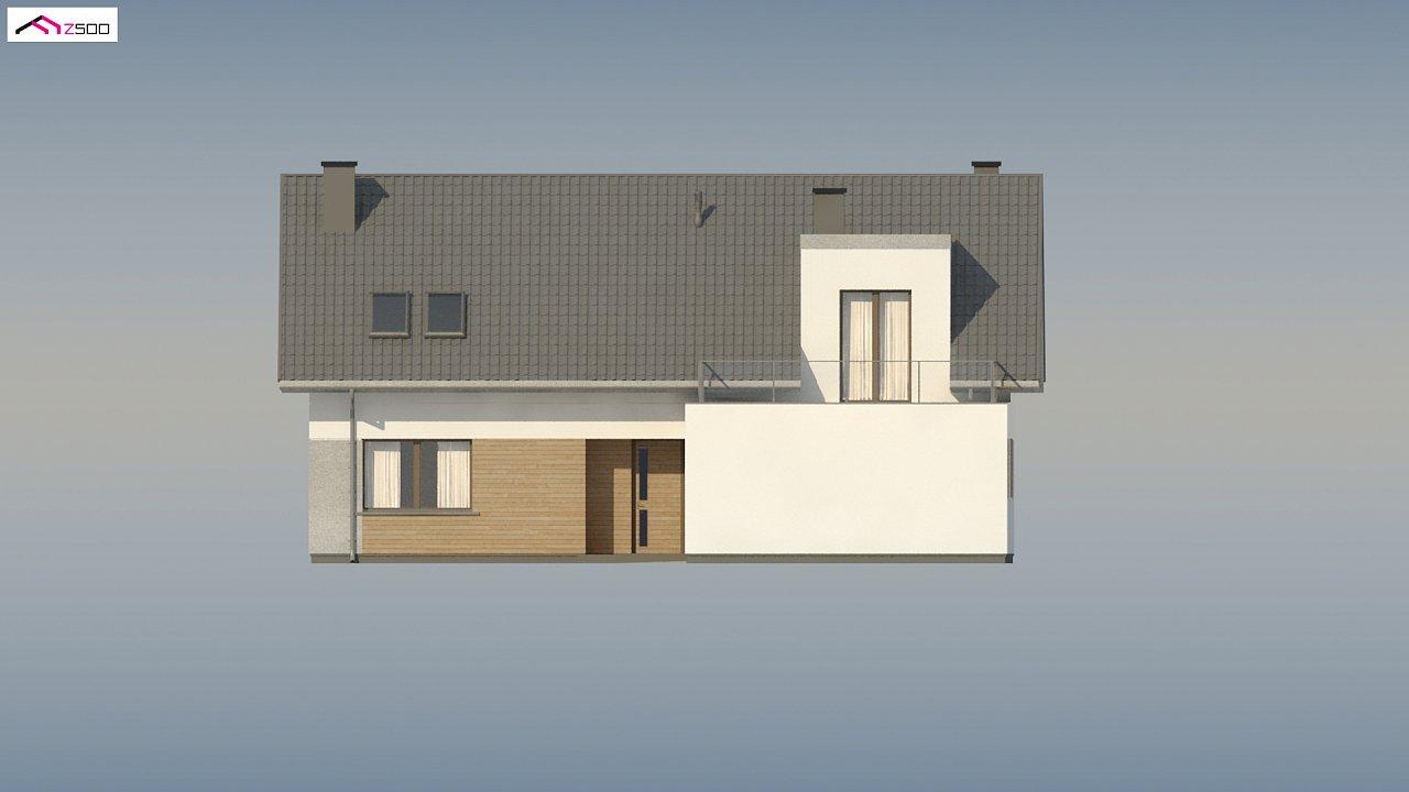 Cтильный мансардный дом с гаражом для двух машин 10