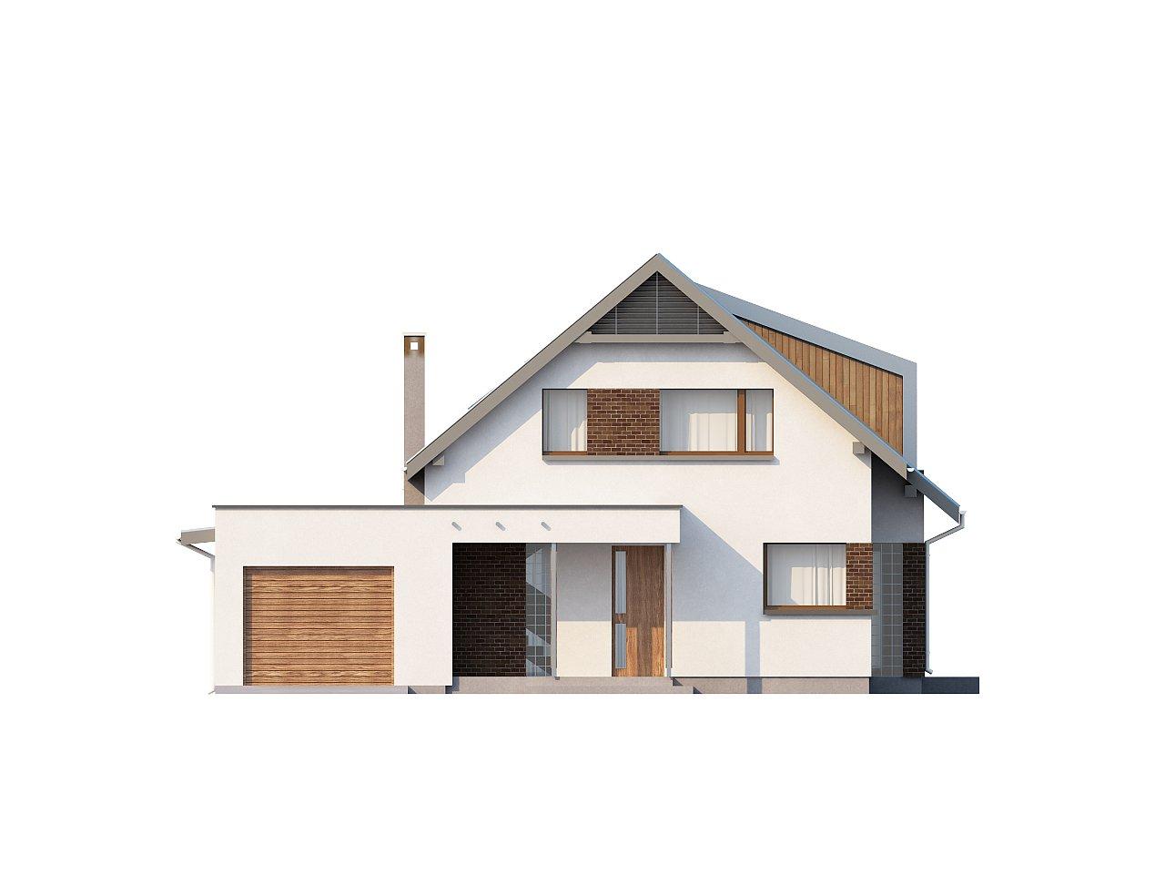 Компактный функциональный дом с оригинальными архитектурными элементами. 3