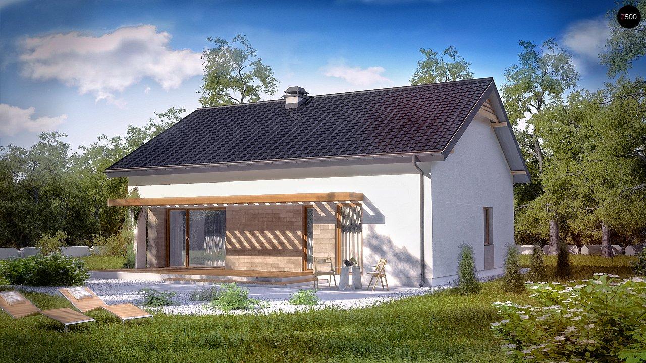 Проект небольшого практичного одноэтажного дома. Есть возможность обустройства чердачного помещения. 1