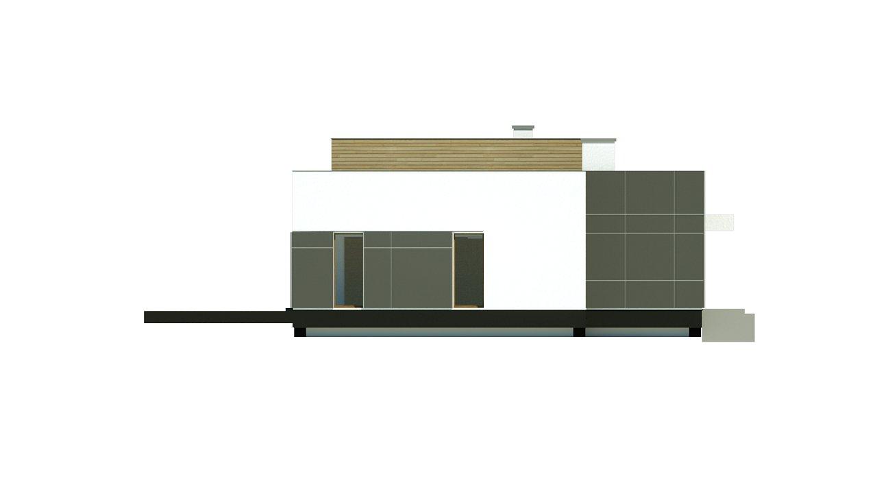 Одноэтажный дом в стиле современного минимализма 11