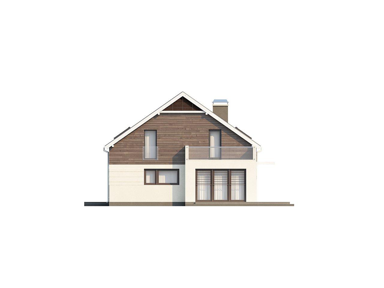 Простой и удобный дом для симметричной застройки с боковым гаражом. - фото 6