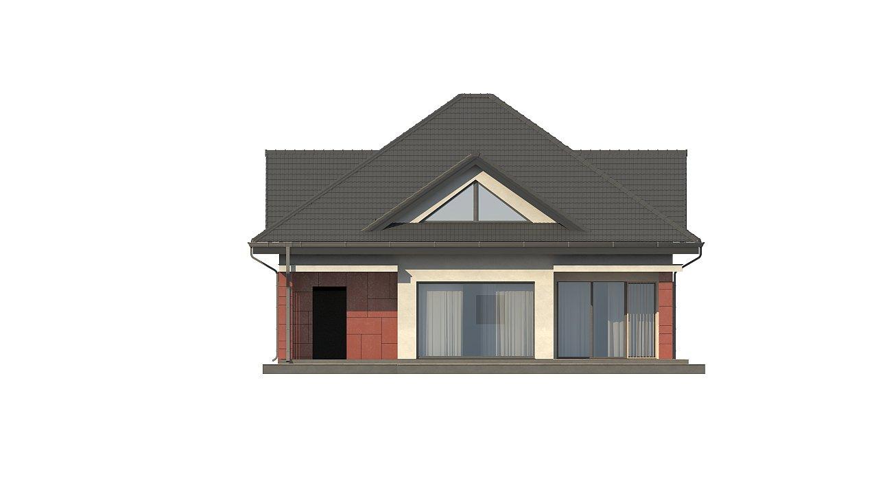 Практичный дом со встроенными гаражом, с большой площадью остекления в гостиной. - фото 5