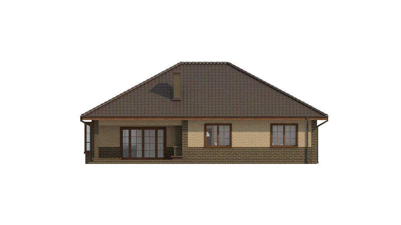 Версия проекта Z10 с кирпичной облицовкой фасадов. - фото 22