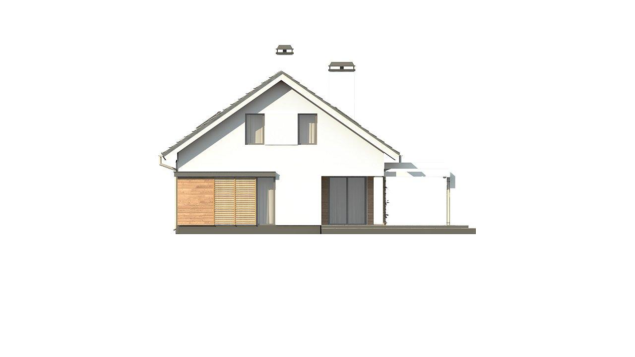 Дом с мансардой с гаражом с левой стороны для одной машины. 8