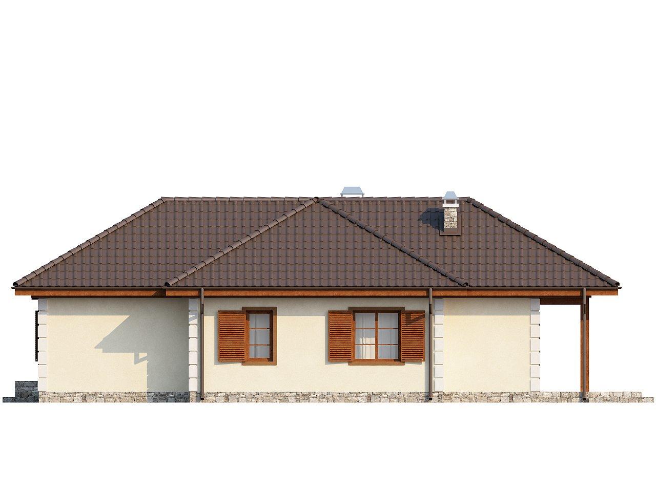 Добротный практичный одноэтажный дом с возможностью обустройства мансарды. - фото 5