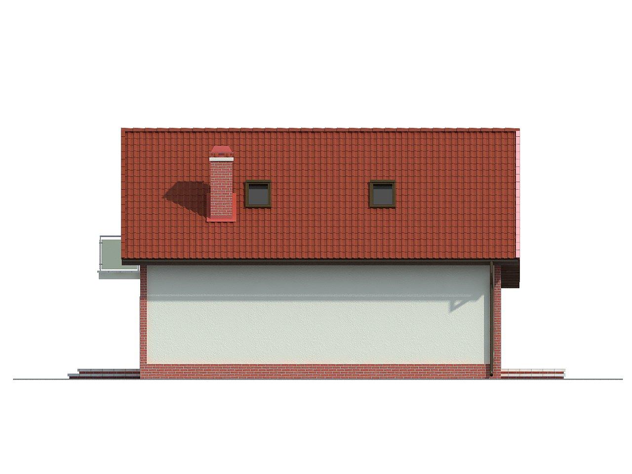 Экономичный в строительстве дом с дополнительной спальней на первом этаже. 5