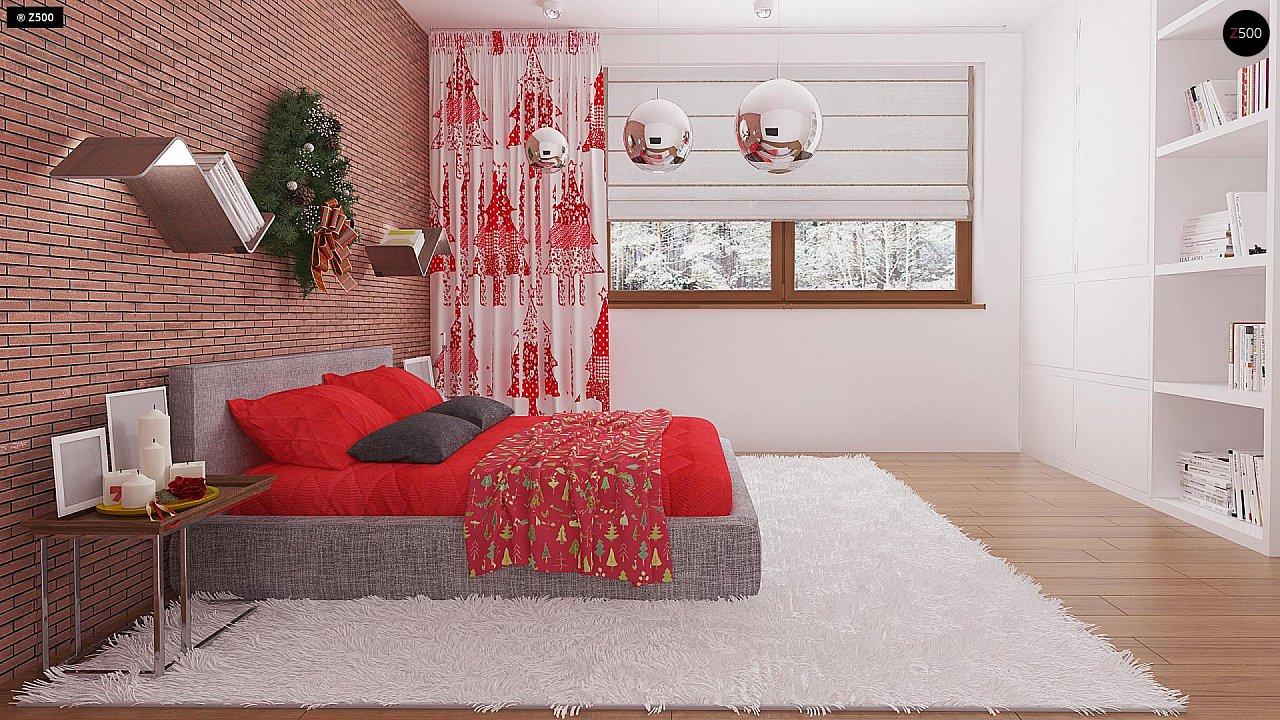 Компактный, уютный одноэтажный дом с двускатной крышей. 12