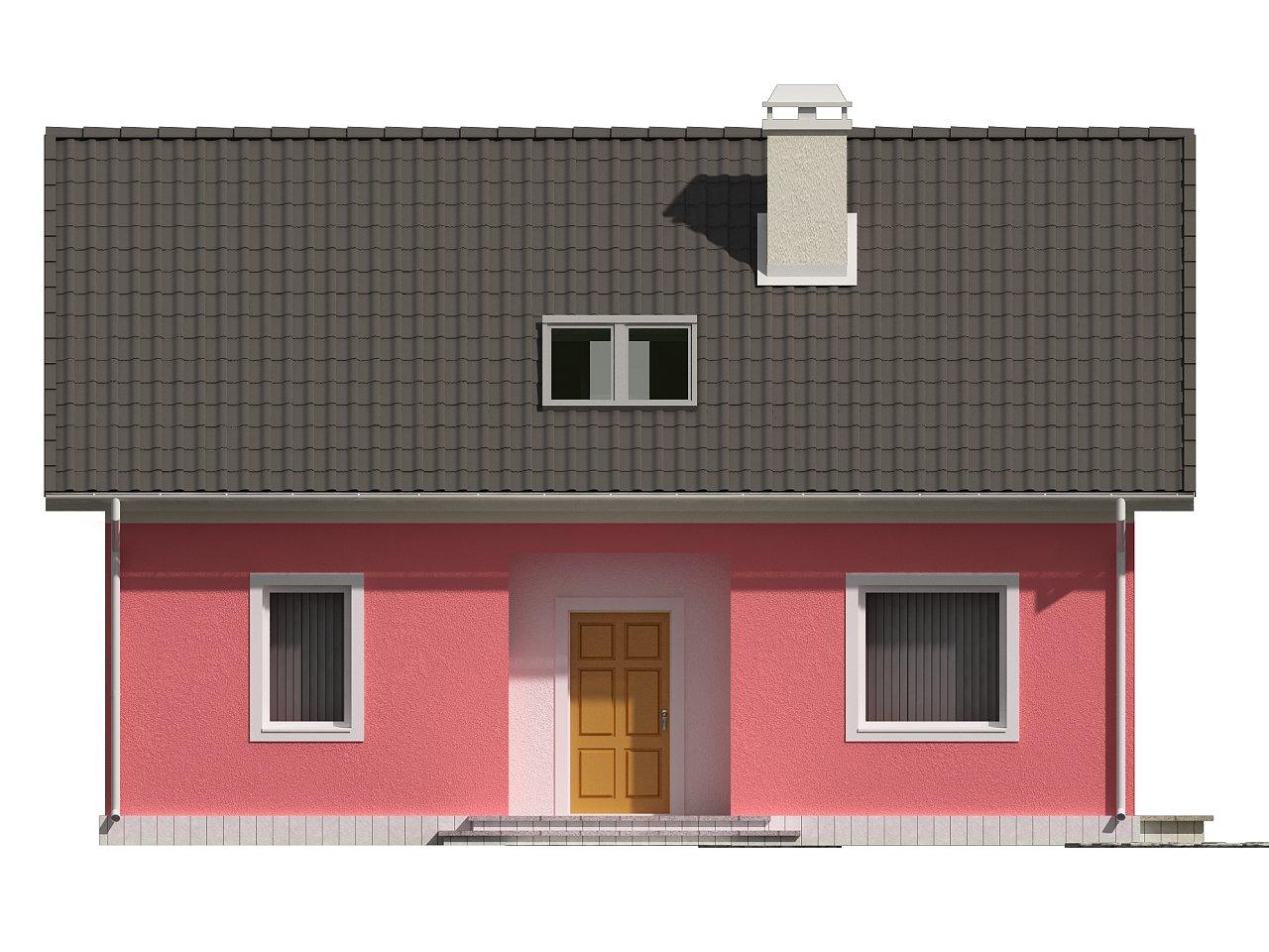 Практичный дом для небольшого участка, простой в строительстве, дешевый в эксплуатации. 21