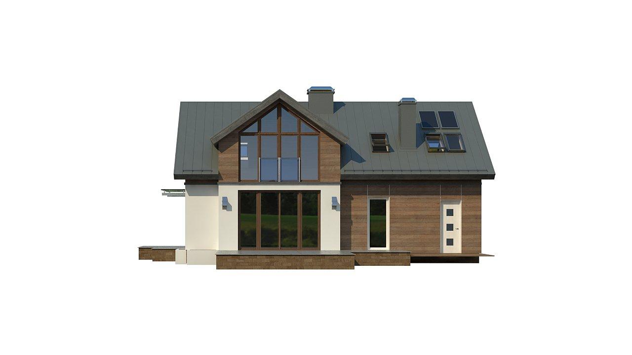 Удобный и красивый дом с красивым окном во фронтоне. 22