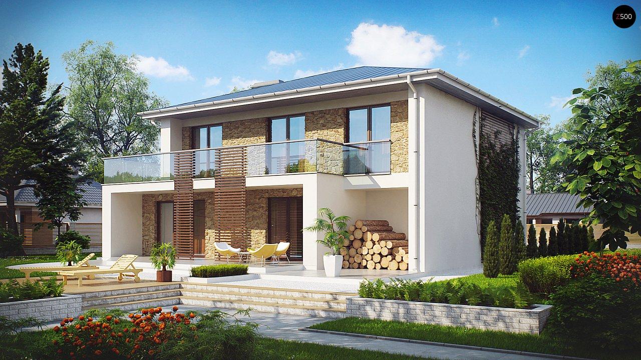 Просторный и комфортный двухэтажный дом с большими окнами. 1