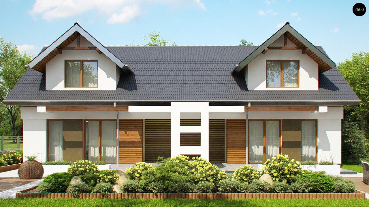 Практичный двухквартирный дом с общими входом и техническим помещением. 6