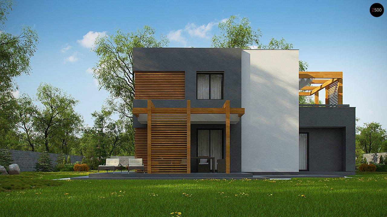 Двухэтажный коттедж современного лаконичного дизайна 6