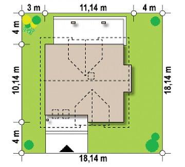 Версия проекта Z28 с небольшими изменениями в планировке, современным дизайном фасадов. план помещений 1