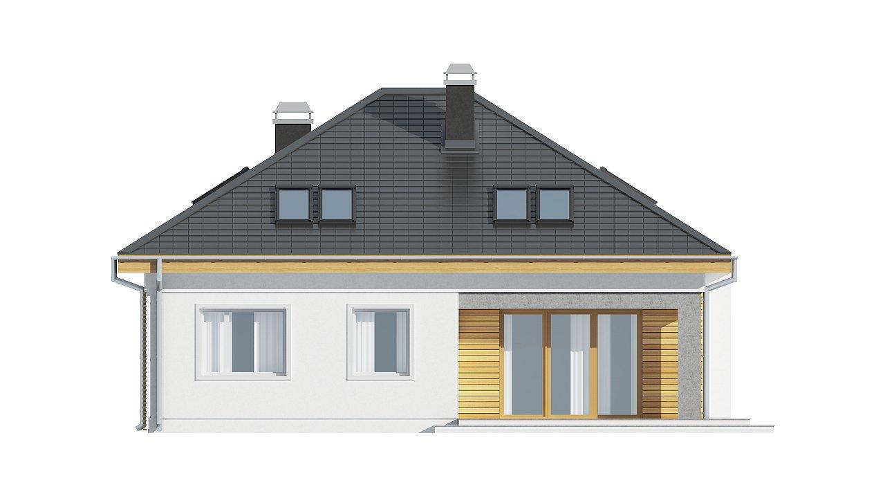 Удобный функциональный дом с двумя дополнительными комнатами на первом этаже. - фото 4