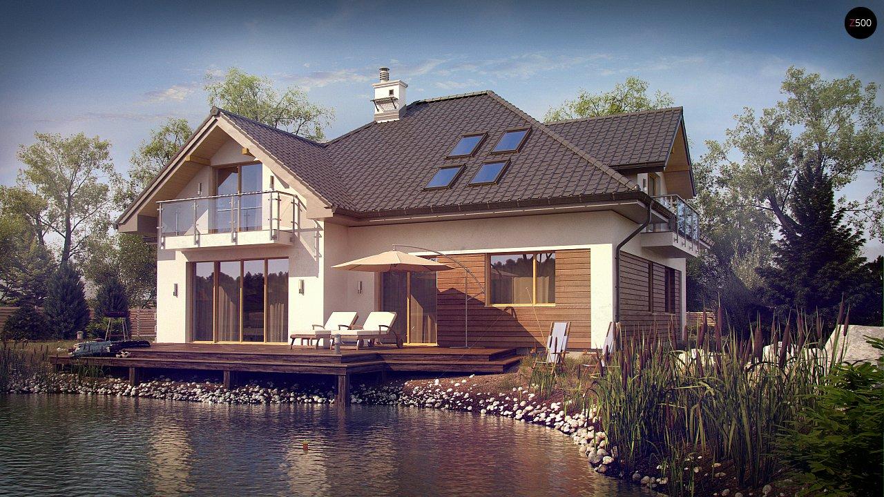 Просторный дом с большими фасадными окнами, с гаражом для двух автомобилей. - фото 1
