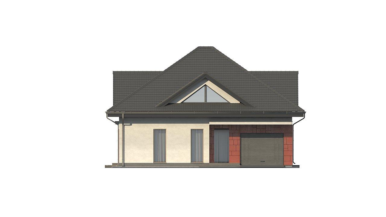 Практичный дом со встроенными гаражом, с большой площадью остекления в гостиной. - фото 7