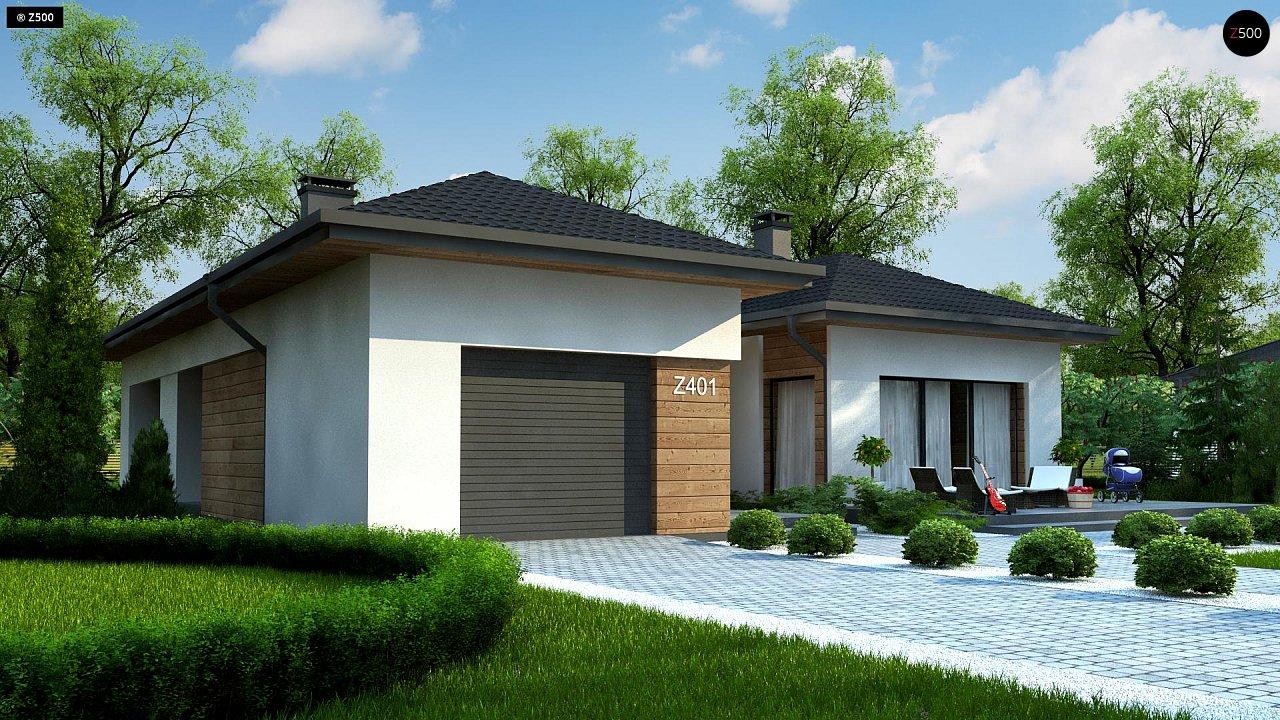 Проект комфортного одноэтажного дома в европейском стиле. 2