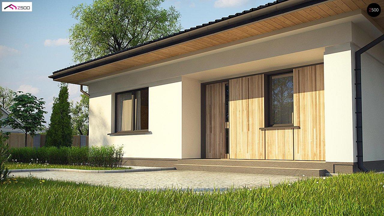 Дом для узкого участка с 4-х скатной крышей - фото 2