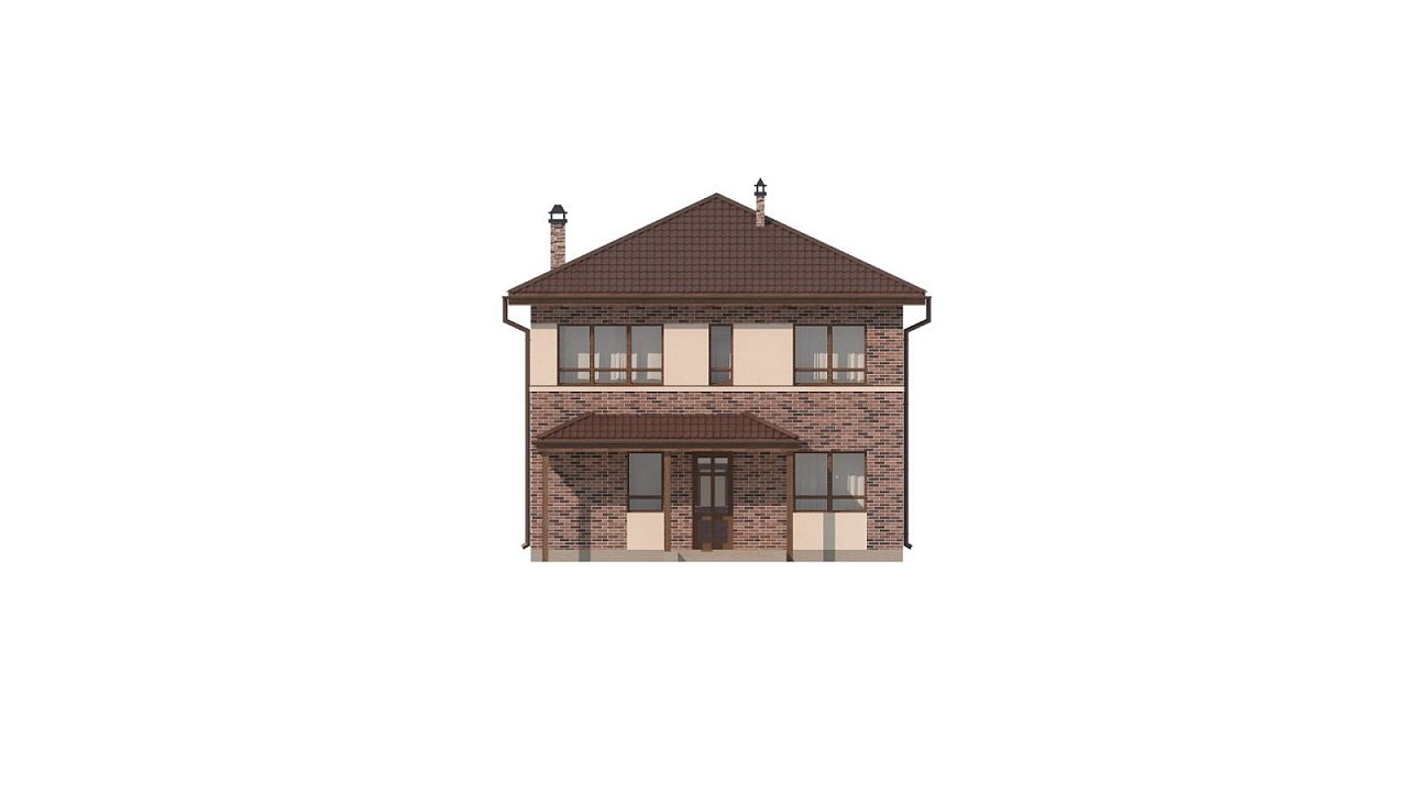 Двухэтажный дом традиционного дизайна 23