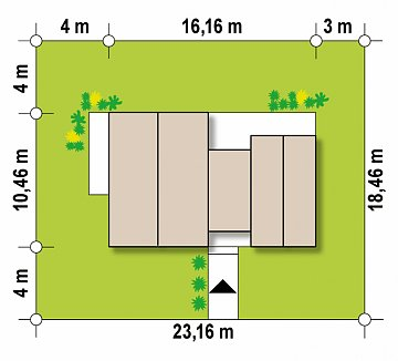 Вариант проекта Z461 с увеличенной площадью котельной. план помещений 1