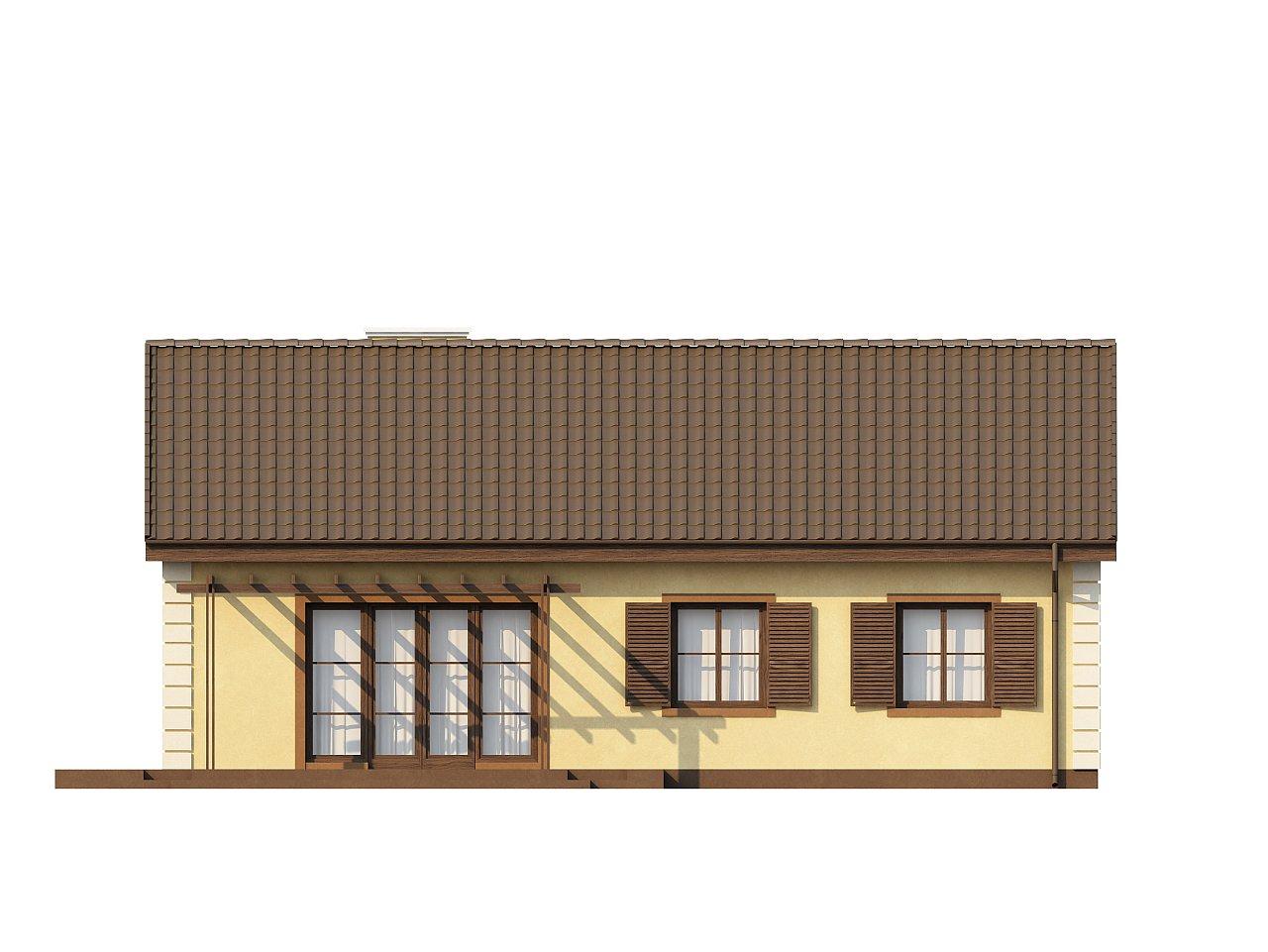 Выгодный и простой в строительстве дом полезной площадью 100 м2. 13