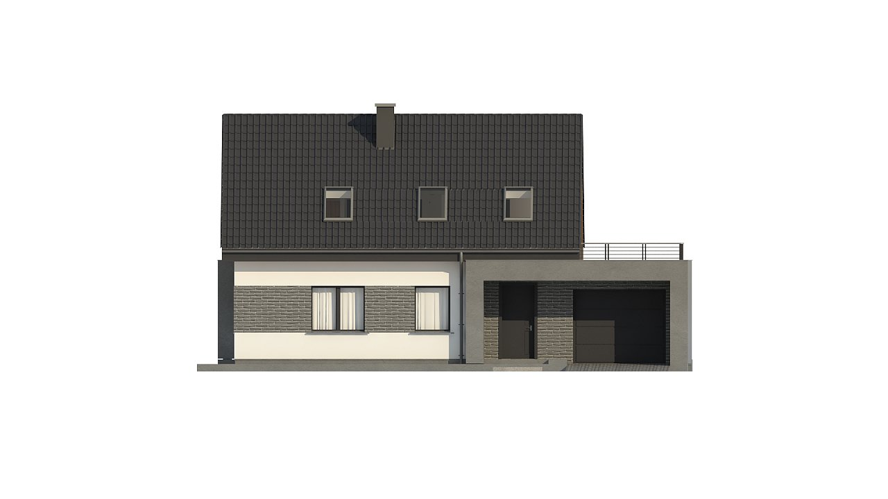Проект комфортного дома в современном европейском стиле. 8